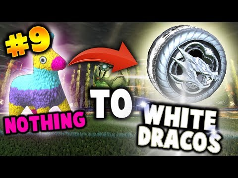 TRADING FROM NOTHING TO SOMETHING! - Trading To White Dracos /Hellfire in Rocket League - Part 9