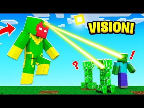 Playing as VISION in Crazy Craft!