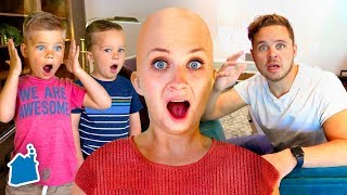 SHAVING MY HEAD BALD PRANK ON FAMILY!! 😱