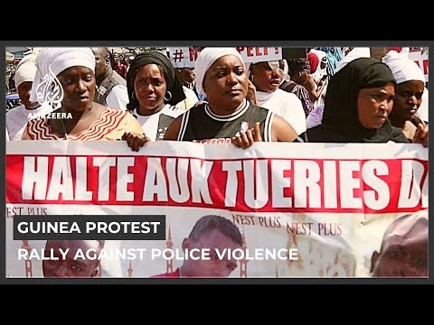 A group of mothers in Guinea rally against police violence