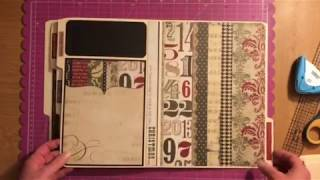 How To Tutorial On Simple Stories File Folder Album Part 1