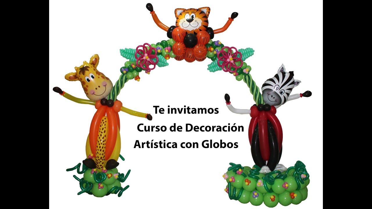 Decoración Artistica con Globos. Ideas para trabajar con globos, murales arcos y mas...