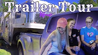 Peek Inside Living Quarters Horse Trailer - NFR Qualifier Kellie Collier