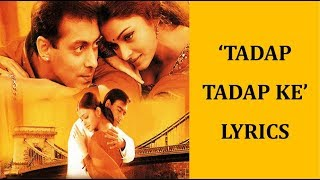 Tadap Tadap Ke Lyrics [HINDI | ROM | ENG] | Hum   - YouTube