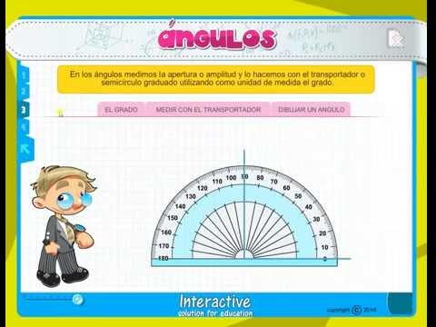 clases de ángulos para primaria