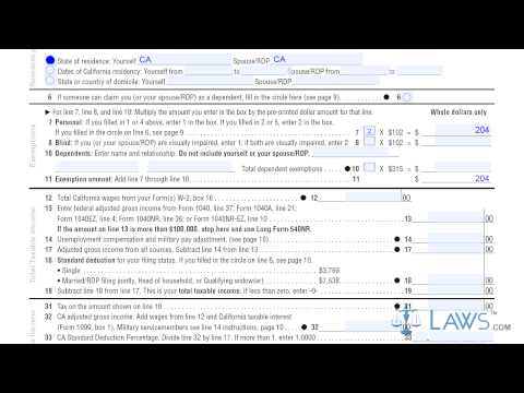 2017 Form 540NR Long - California Nonresident or Part-Year