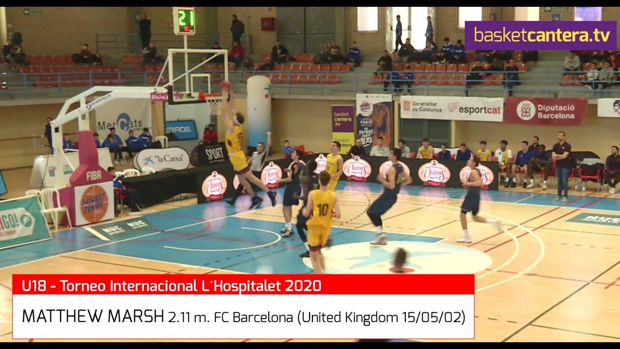 MATTEWS MARSH (´02) -  2.11 m. FC Barcelona. Torneo U18M L´Hospitalet 2020 (BasketCantera.TV)
