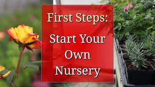 First Steps to Start a Plant Nursery