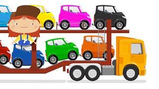 ДОКТОР МАШИНКОВА - Автовоз и потерянная машинка   Мультики для детей про машинки - Учим цвета