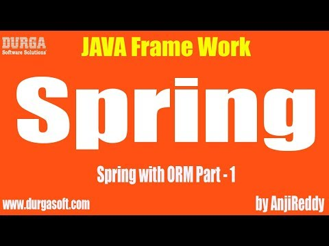 Spring with ORM Part - 1