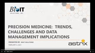 Precision Medicine: Trends, Challenges and Data Management Implications