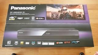 Unboxing DP-UB824EGK 4K UHD Blu-ray Player von Panasonic
