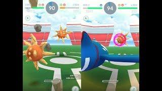 【Pokemon GO】神獸蓋歐卡與第三代寶可夢太陽岩道館對戰! [精靈寶可夢GO]