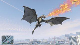 GTA 5 Dragon Mod - Rồng Lửa khổng lồ xuất hiện trong GTA 5