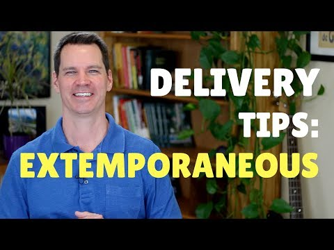 How to Deliver an Extemporaneous Presentation or Speech