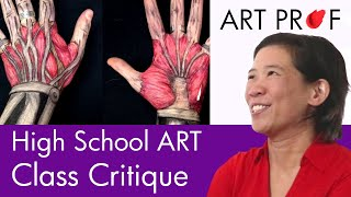 Art Professor Critiques A High School Art Class