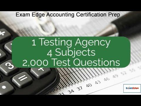 Exam Edge Accounting Certification Prep - YouTube