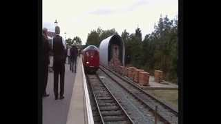 preview picture of video 'Tube trains return to Epping-Ongar line 26/9/14'