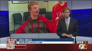 Ken Broo talks to an inspirational young athlete, Cam Louder