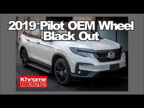 2019 Honda Pilot Rim Chrome Delete Tutorial