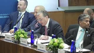 Выступление министра иностранных дел Зограба Мнацаканяна на министерской встрече по религиозным вопросам