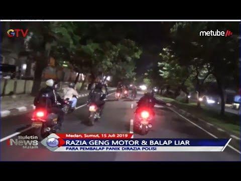 Gelar Razia, Polrestabes Medan Amankan Puluhan Anggota Geng Motor- BIM 15/07