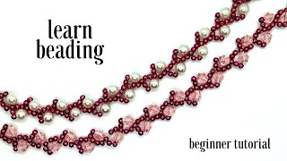 Learn Beading. Simple Bracelets Designs. Beaded Bracelets. Beginner Beading Patterns