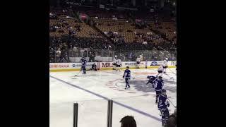 Toronto Maple Leafs pregame warmup vs Buffalo Sabres -  February 11, 2017