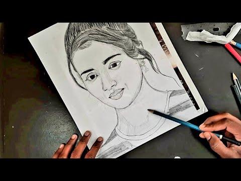 Actress Trisha Krishnan Pencil Drawing // VANNA THOORIGAI