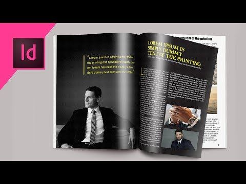 Indesign CC Tutorial | Designing Magazine Page