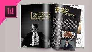 Indesign CC Tutorial | Designing Magazine Page