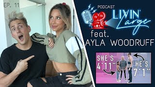 4ft TALL GIRL Ayla Talks Dating 7ft TALL GUY, Quitting Work for Logan Paul & Travel