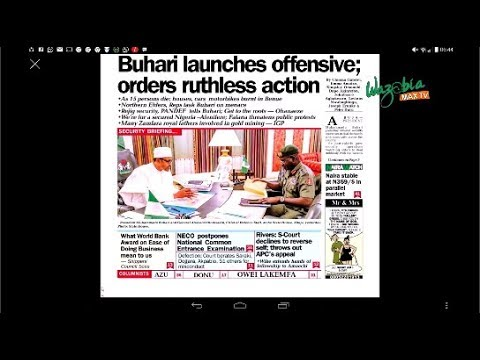 BUHARI LAUNCHES OFFENSIVE;ORDER RUTHLESS ACTION