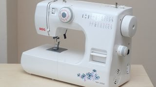 AEG NM 376 B Nähmaschine Sewing machine Швейная машина test