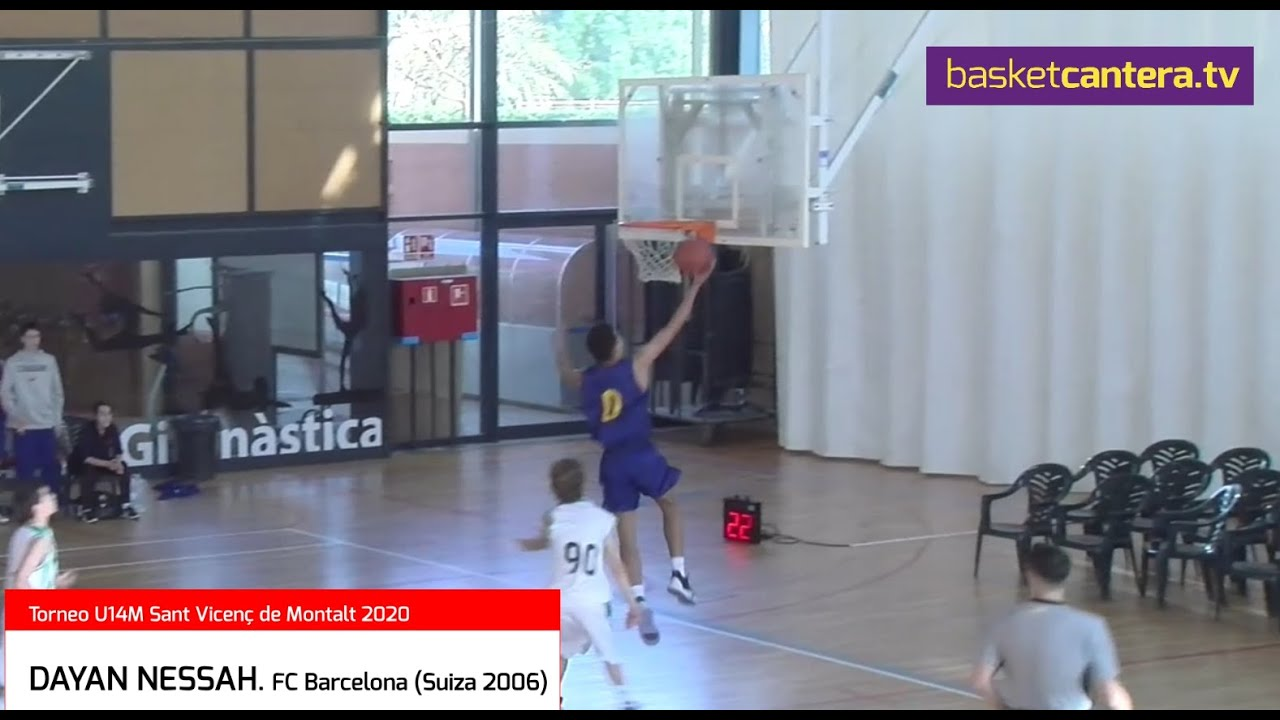 DAYAN NESSAH (`06) FC Barcelona. HIGHLIGHTS Torneo U14M Sant Vicenç de Montalt-20 (BasketCantera.TV)