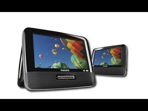 DVD portátil de doble pantalla LCD de 7