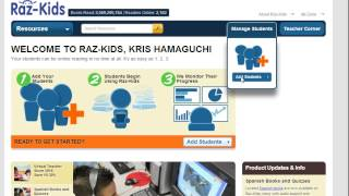 RAZ Kids - Adding students to a roster