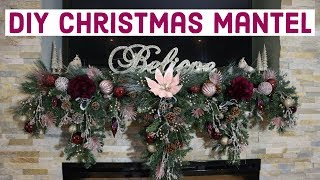 How To Decorate Christmas Mantel / How To Create Cascading Christmas Garland