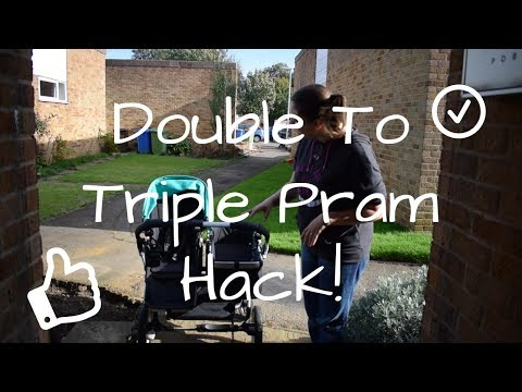 Double Pram Into A Triple Pram! Bugaboo Donkey Pram/Mum Hack! The Swirles Clan!