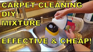 The WORLD'S BEST DIY Carpet Cleaning Solution Mixture (EFFECTIVE & CHEAP!)
