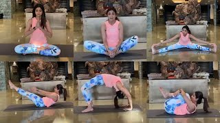 Shilpa Shetty Yogasan Video For Weight Loss in Lockdown | Yoga For Beginners
