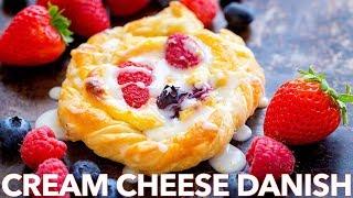 Cream Cheese Danish Pastry Recipe With Berries & Lemon Glaze