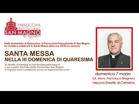 In diretta dalla Basilica di Legnano: messa delle 18 nella III Domenica di Quaresima