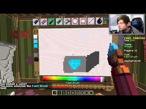 Minecraft   THE VILLAGER'S NOSE!!   Pixel Painters Minigame