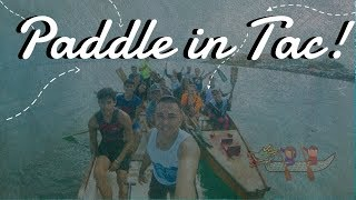 Dragon boat tutorial in Tacloban