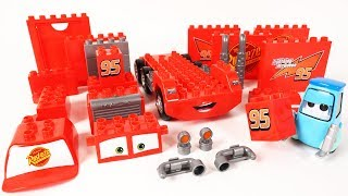 Cars Guido's Block Building Mack Truck Block Toys Assembly Video for Kids