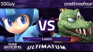 Ultimatum  - SSGuy (Mega Man) vs onethreefour (King K. Rool) Losers - SSBU