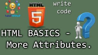 Gambar cover HTML Basics For Beginners -   More Attributes