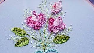 Бразильская Вышивка: бразильская роза | Фриволите иглой