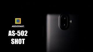 Смартфон  ASSISTANT AS-502  (gold)  + сил. чехол від компанії CyberTech - відео